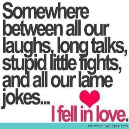 I Fell In Love With You Boyfriend Quote Image