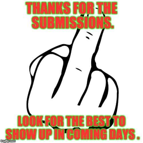 Thanks For The Submissions Middle Finger Funny Pics