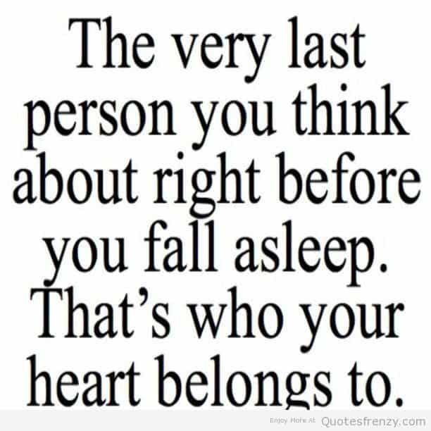 The Very Last Person You Think About Right Before You Fall Asleep