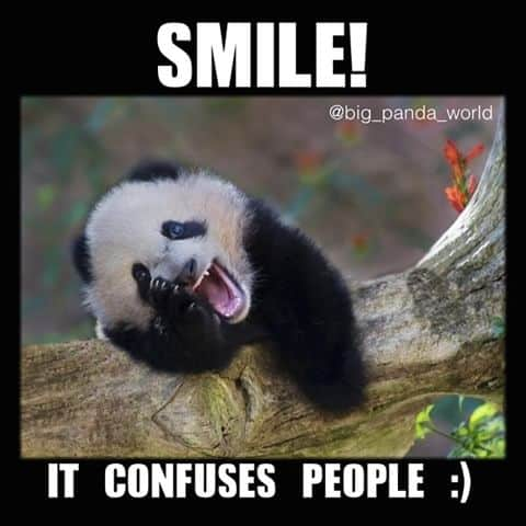 Smile It Confuses People Hilarious Wednesday Meme