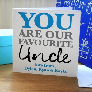 Personalised Favourite Uncle Birthday Card By A Type Of Birthday Card Ideas For Uncle