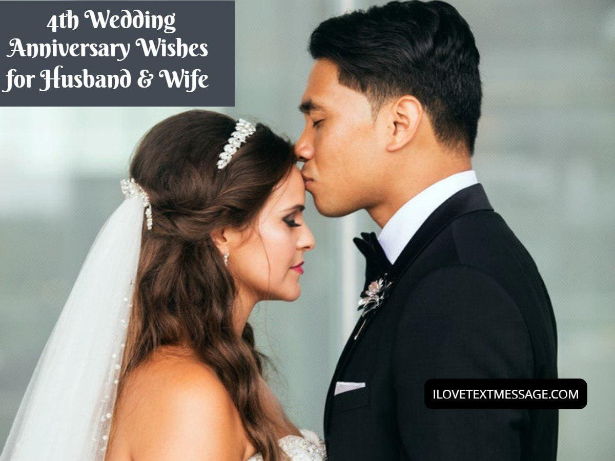4th wedding anniversary wishes for husband and wife  4th